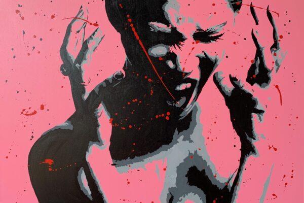 """36""""x48"""" - Acrylic on canvas - Framed"""