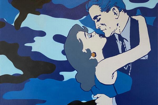 """30""""x30"""" - Acrylic and spray on canvas"""