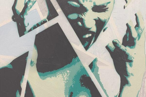 """36""""x36"""" - Acrylic and spray on canvas"""