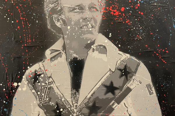 """30""""x 30"""" - Acrylic and spray on canvas"""