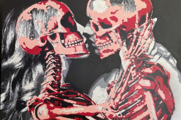 """48"""" x 36"""" - Acrylic and spray on canvas"""