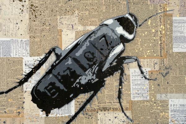 """36"""" x 36"""" - Mixed media, acrylic and spray on canvas"""