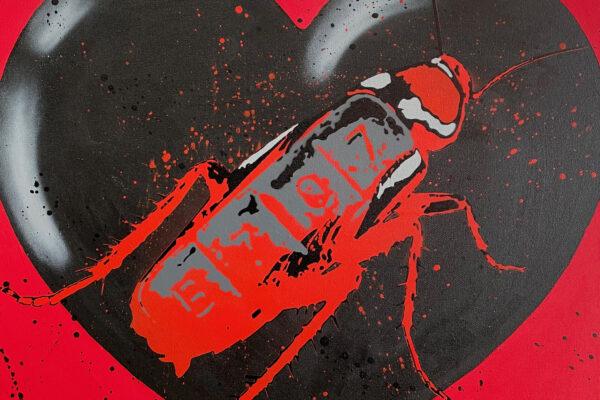 """24""""x 24"""" - Acrylic and spray on canvas"""