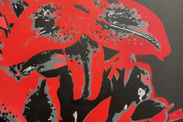 """24"""" x 30"""" Acrylic and spray on canvas"""